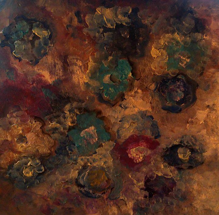 Flowers on rocks - CS art