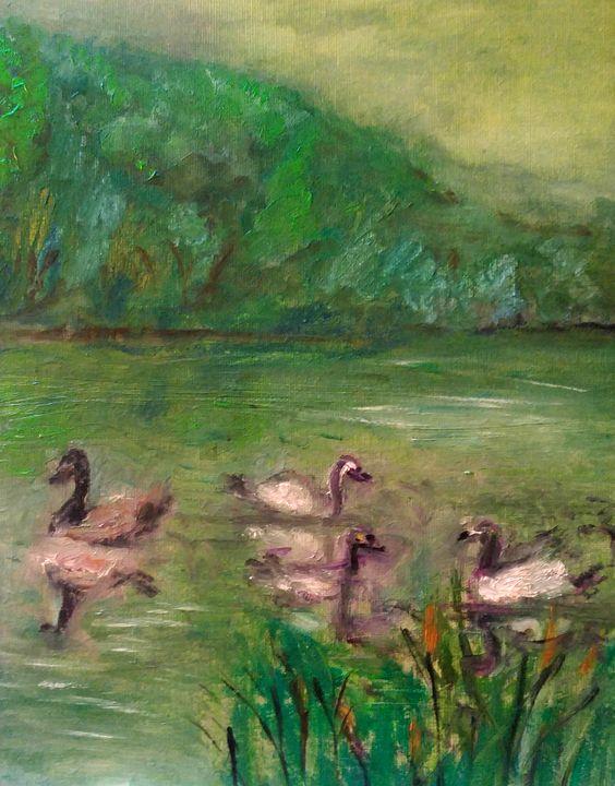 Scène sur le lac - CS art