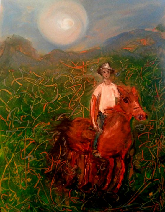 Horseback Rider in Rohani Mountains - CS art