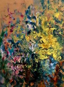 Tache jaune au jardin