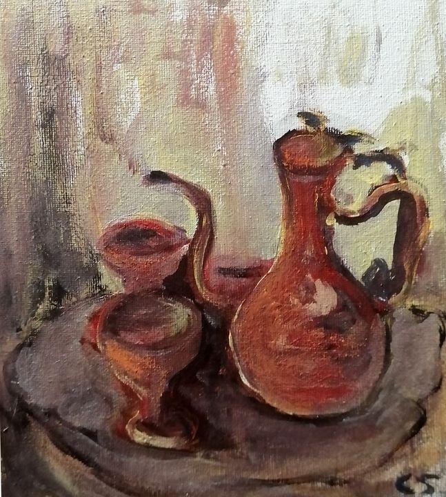 Wine Goblets Set - CS art