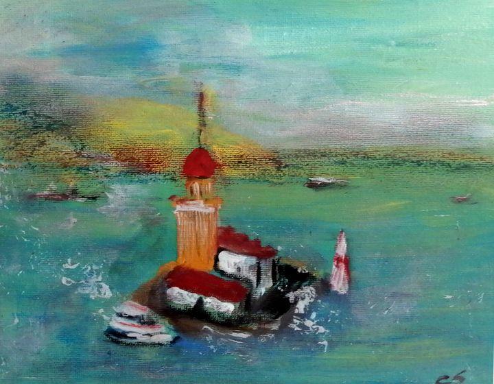 Lighthouse Island (Leander's Tower) - CS art