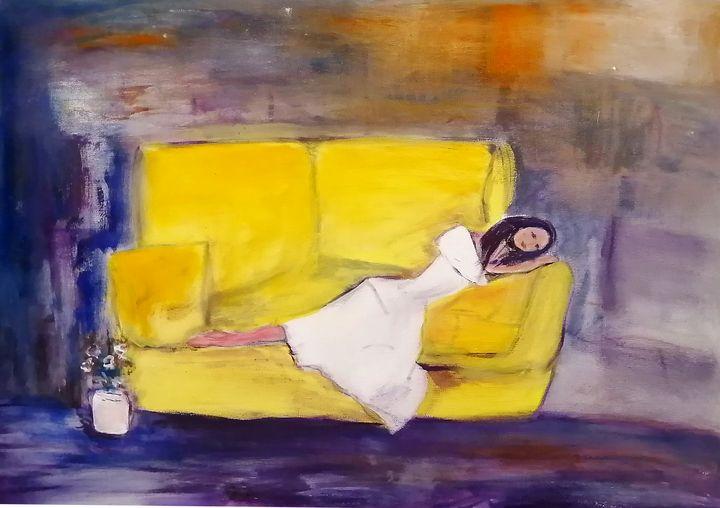 Dream on Yellow - CS art