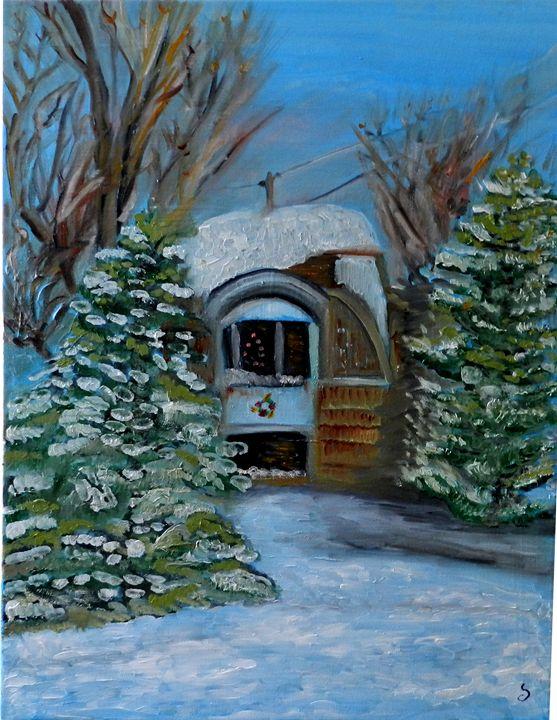 Maison enneigée - Winter House - CS art
