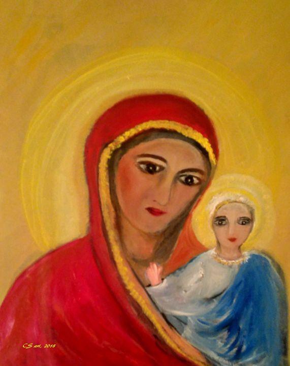 Ste Marie et Jesus - CS art