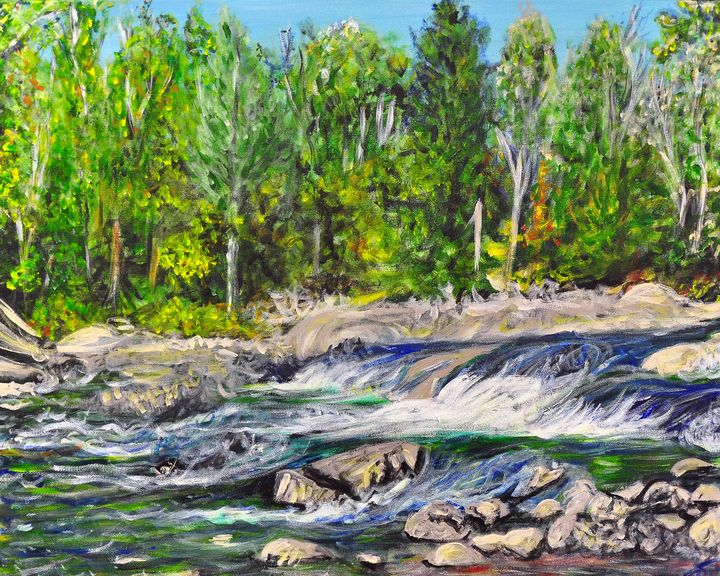 Ragged Falls Rapids - True Vine Art Design