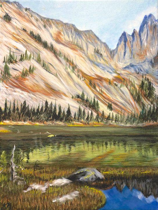 Mountain Reflection - True Vine Art Design