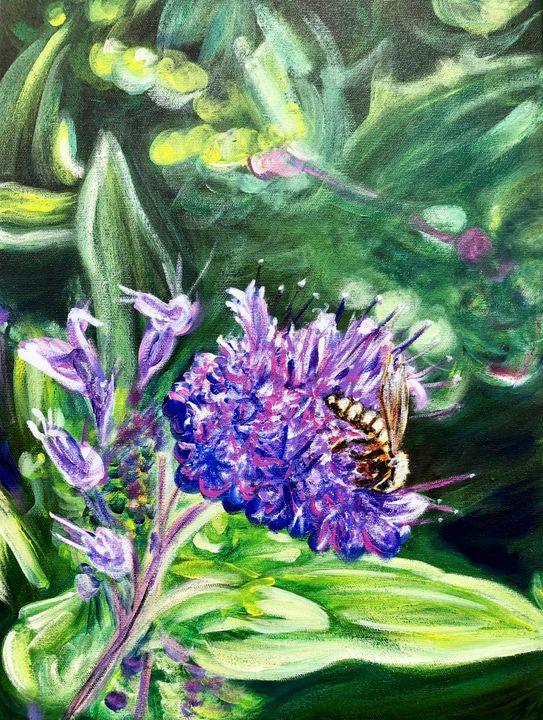 Bee upon the Lilac - True Vine Art Design