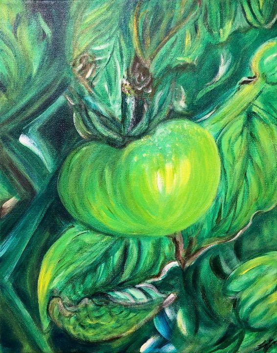 Green Tomato - True Vine Art Design