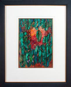 Laurel Leaves - Collage Art