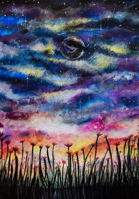 Cosmic Poppies - Jennifer Taylor Art