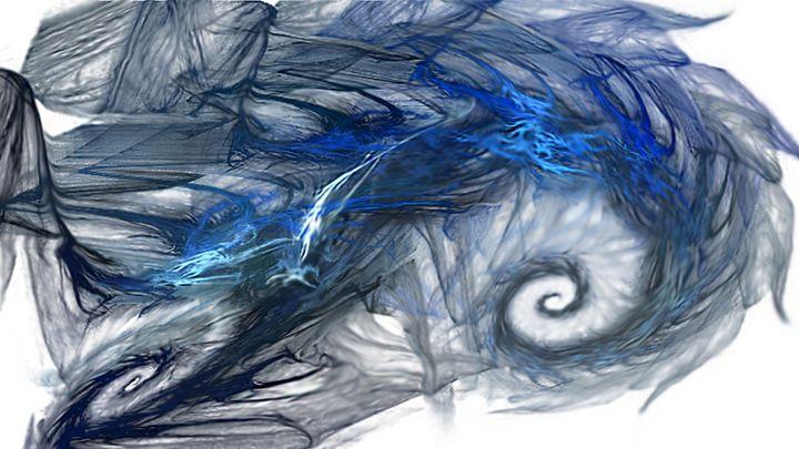 Blue Fractal Storm - WilOblique