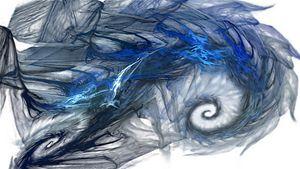 Blue Fractal Storm