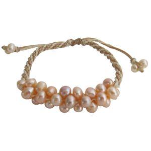 Bracelet Peach Freshwater Pearl - Handcrafted jewelry FashionJewelryForEveryone.com