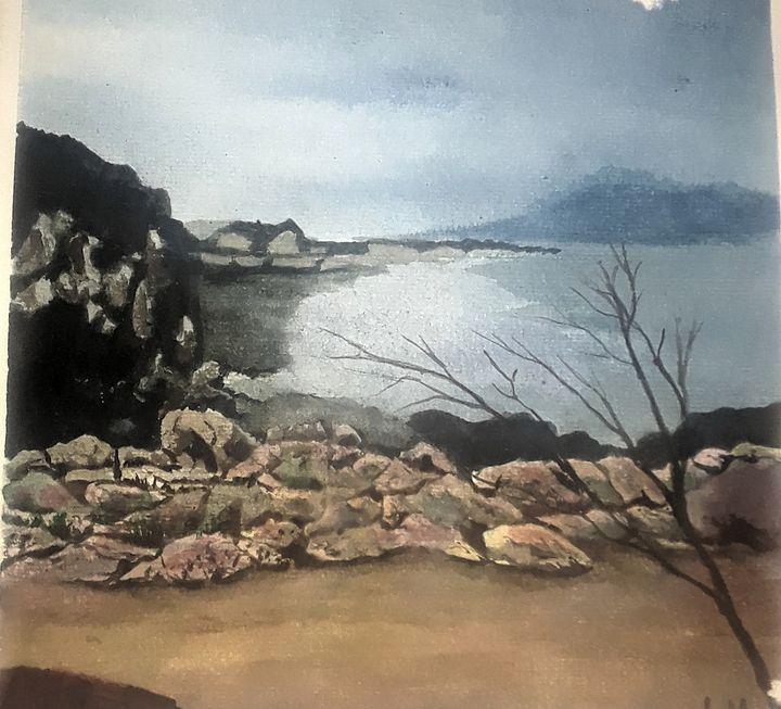 Rock Shore - Larry McNeil Art