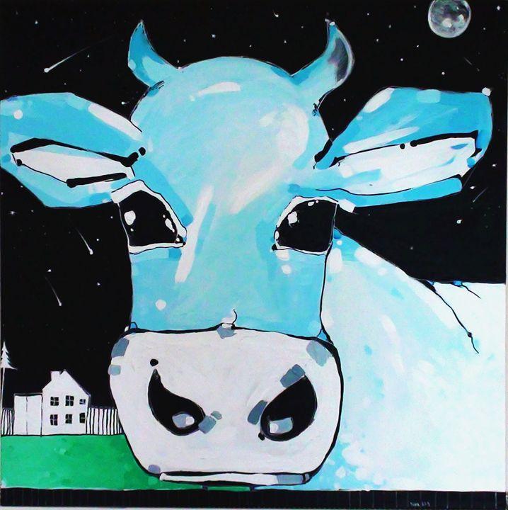 Blue cow - MagdArt