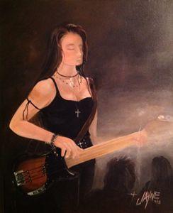 Bass Playing Girl