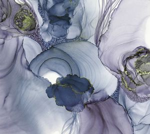 Cloudy Blossomed in Violet and Blue