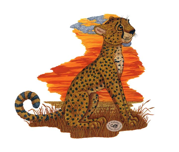 Cheetah - Illustration by Cat