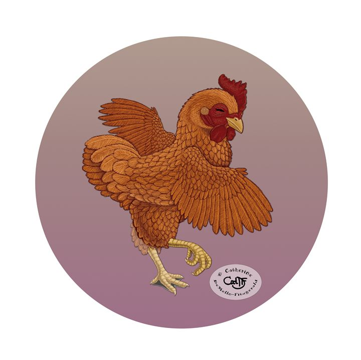 The Happy Chicken - Illustration by Cat