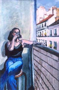 Le Balcon / Self-portrait