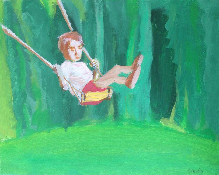 Boy on swing - Cris
