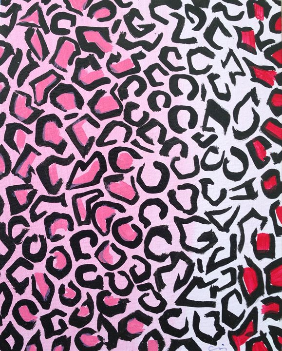 Pink and red cheetah - Cris