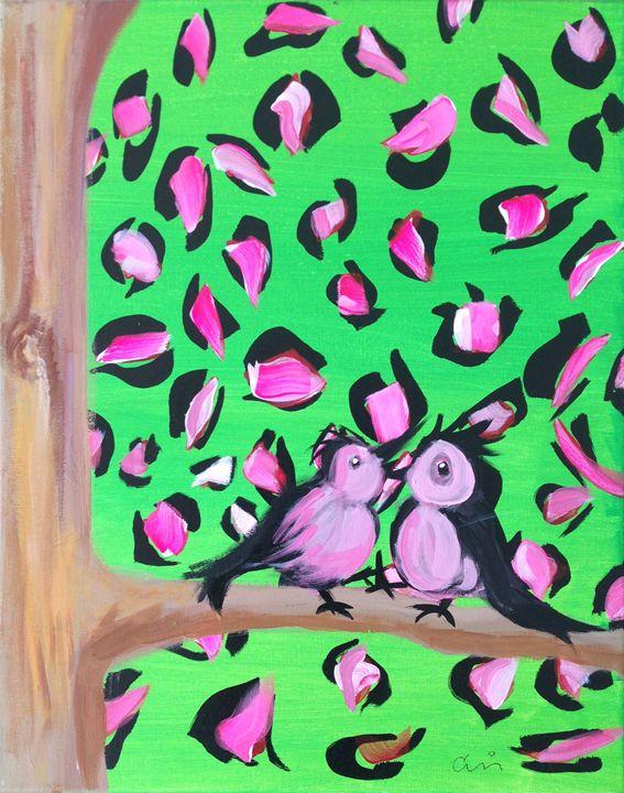 Birds on Cheetah tree - Cris