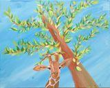 16x20 giraffe tree