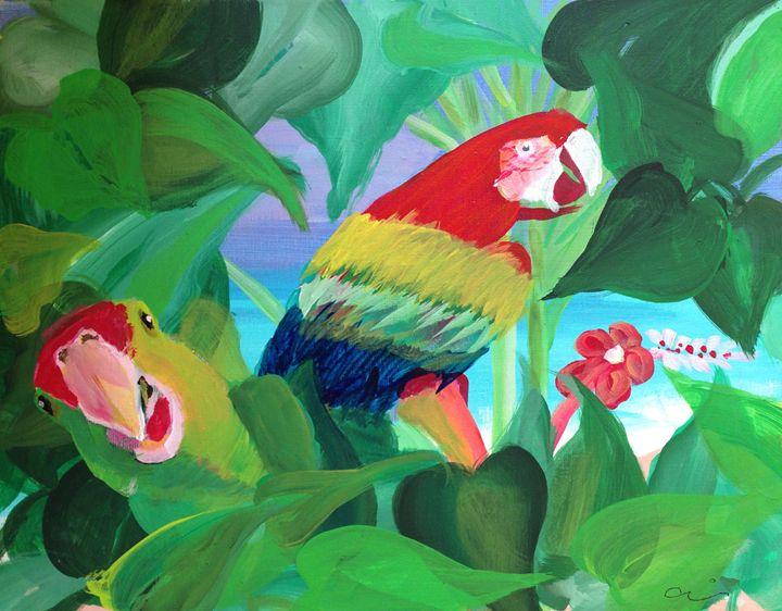 Parrots in the jungle - Cris
