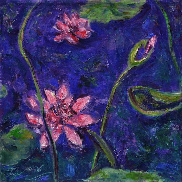 Monet's Lily Pond I - Art by Xueling Zou