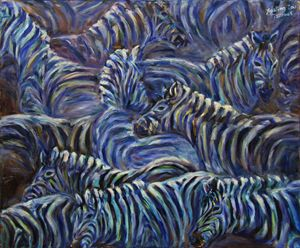 A Group Of Zebras