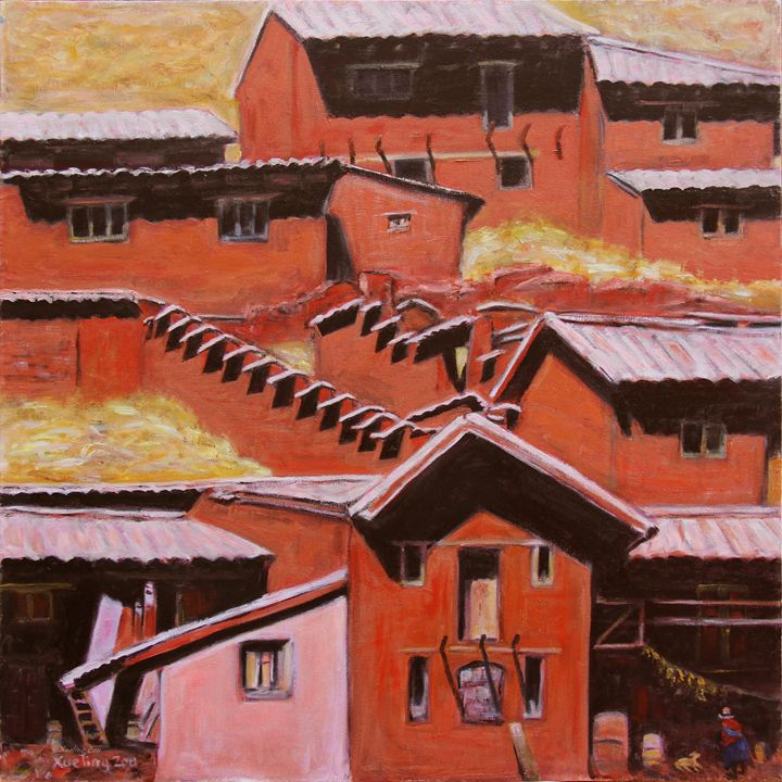 Adobe Village - Peru Impression II - Art by Xueling Zou