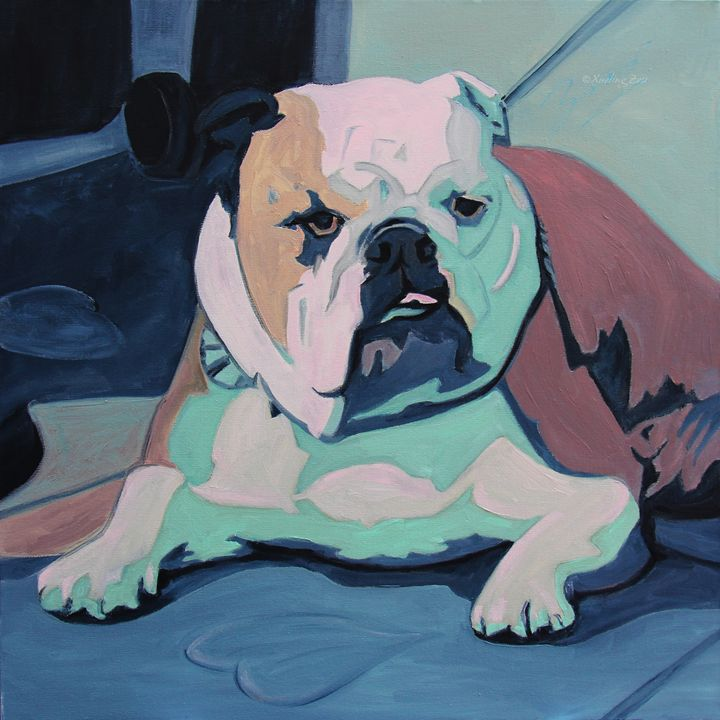 Bulldog In Love - Art by Xueling Zou