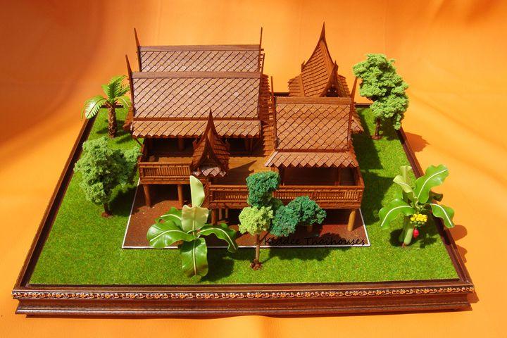 Thai house model - 4 houses - KiddeeThaihouses