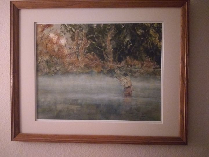 Upper Sacramento River - Original Watercolor by Ken Moore