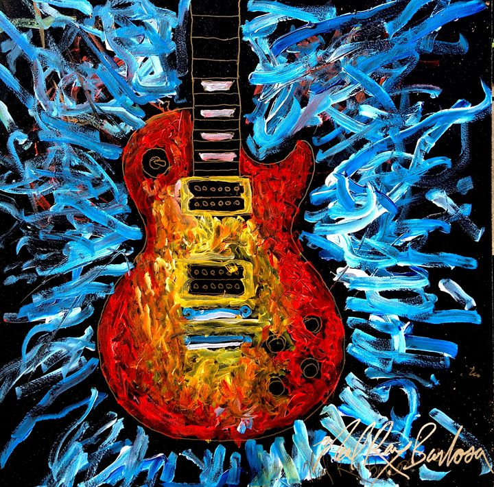 Les Paul exsplosion - Neal Barbosa Art