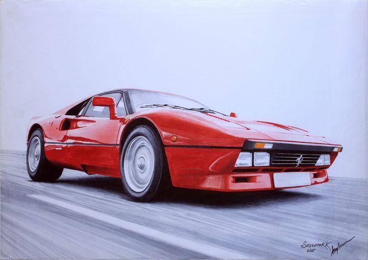 Ferrari 280 GTO 1985 - Sreejith's Car Drawings