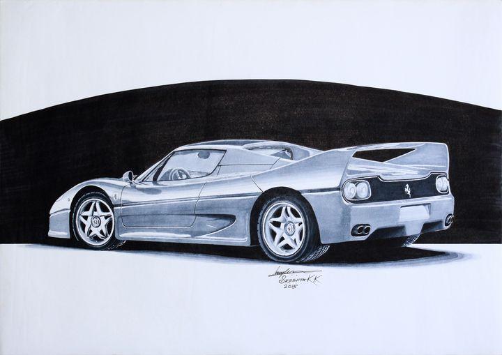 Ferrari F50 - Sreejith's Car Drawings