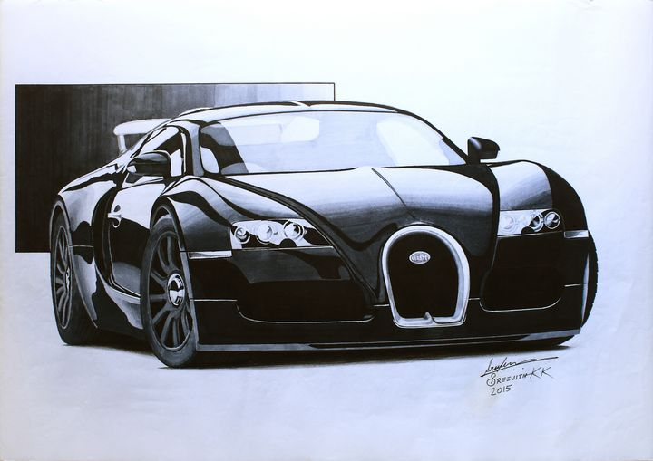 Mighty Black - Sreejith's Car Drawings