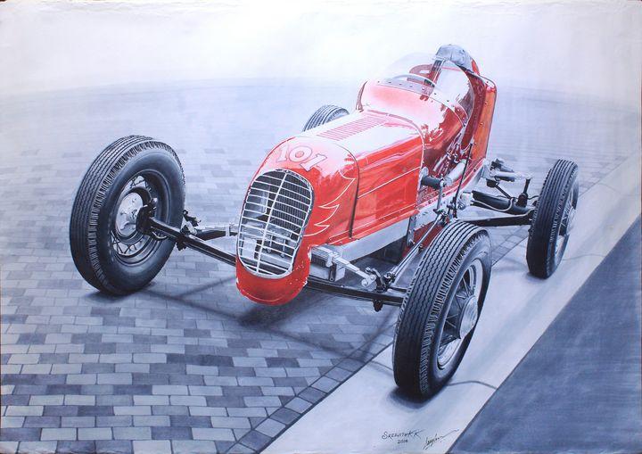 The Big Red Racer - Sreejith's Car Drawings