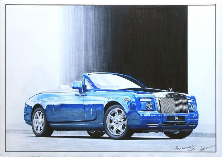 Blue Phantom - Sreejith's Car Drawings
