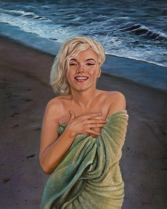 Marilyn Monroe at the beach - Geronimo's Paintings