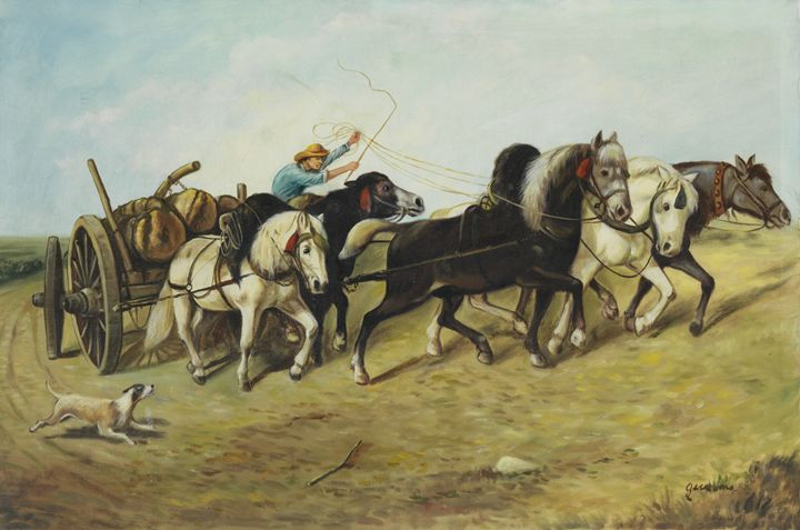 Horse drawn carriage - Geronimo's Paintings