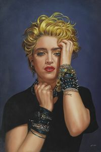 the singer Madonna in 1983