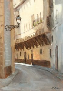 A Quiet Street - Michael Gillespie Art Studio