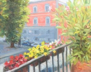 Flowers on the Terrace - Michael Gillespie Art Studio