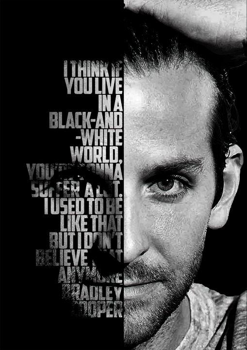 Bradley Cooper quote poster - Enea Kelo