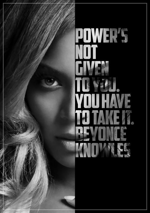 Beyonce Text Art - Enea Kelo