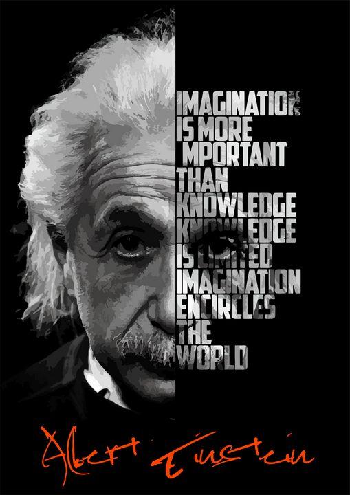 Albert Einstein quote poster. - Enea Kelo
